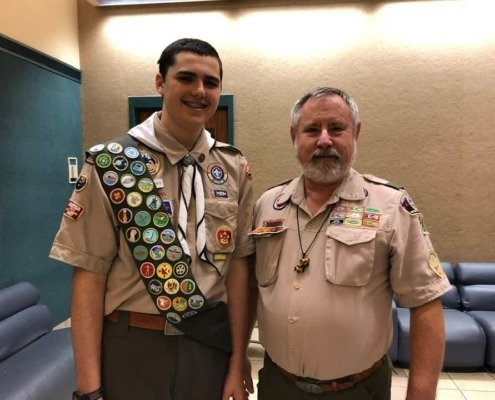 New Eagle Scout for Boy Scout Troop 30